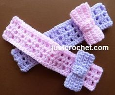Free baby crochet pattern headband with a bow usa