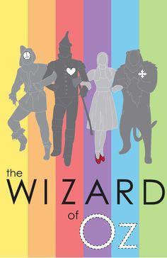 The Wizard of Oz (1939) - Minimal Poster by Consort-of-the-Moon (Abigail) #wizardofoz #minimalmovieposters #alternativemovieposters #vintagemovies