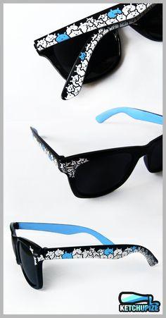 b3cfcf8817a Sunglasses - Custom Wayfarer style sunglasses unique hand painted black and  white. via Etsy.