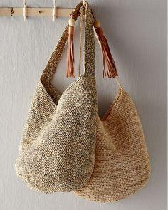 Mar Y Sol Augusta shoulder bag at Garnet Hill . Mar Y Sol Augusta shoulder bag at Garnet Hill . Crochet Market Bag, Crochet Tote, Crochet Handbags, Italian Leather Handbags, Knitted Bags, Handmade Bags, Garnet, Purses And Bags, Tote Bags