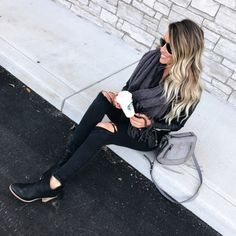 Happy Hump Day! My go-to leather jacket is on MAJOR sale tonight for $59! Also loving this new bag @kentknuth got me for Christmas! All outfit details linked here ----> http://liketk.it/2pZHM @liketoknow.it #liketkit