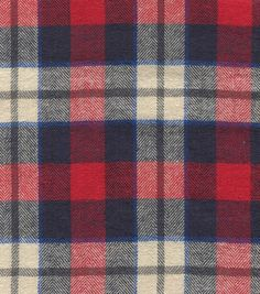 Flannel Shirting Red Blue Flannel Shirting