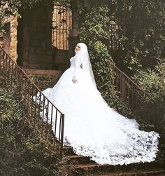 The item does not include any accessories such as gloves, wedding veil and the crinoline petticoat ( show on the pictures). We may fold the gown inside out to protect the beading or lacing. It will take about weeks to finish. Panina Wedding Dresses, Malay Wedding Dress, Muslimah Wedding Dress, Muslim Wedding Dresses, 2016 Wedding Dresses, Elegant Wedding Dress, Bridal Dresses, Dresses Dresses, Dresses Online