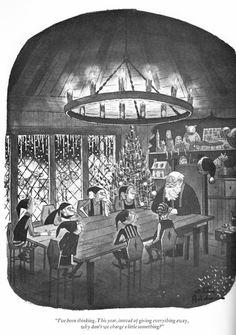 More Charles Addams holiday hits… Original Addams Family, Addams Family Cartoon, Addams Family Quotes, Addams Family Values, Christmas Cartoons, Christmas Humor, Father Christmas, Christmas Time, Los Addams
