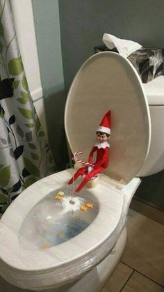 Ice fishing elf on the shelf!