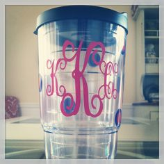 monogrammed tervis tumbler!!!! I love mine for coffee of course