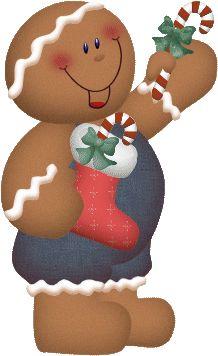 CHRISTMAS GINGERBREAD CLIP ART