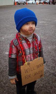 Oh, irgendwie ist der aufgemalte Bart schon süß, oder? Allerdings sieht der kleine Junge eher aus wie ein Hipster, als ein Obsachloser, haha. | unfassbar.es