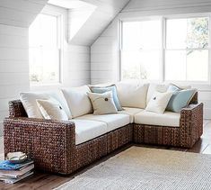 Charmant Seagrass Square Arm 4 Piece Sectional