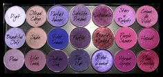 MAC eyeshadows in purples  my fave ones are:  illegal cargo  beautiful iris  plum  lilac touch  indian ink