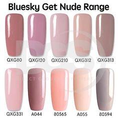 Bluesky GET NUDE 2 Collection UV LED Soak Off Gel Nail Polish Free Postage 10ml