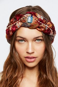 Willa Braided Turban from Free People! Pigtail Hairstyles, Bobby Pin Hairstyles, Headband Hairstyles, Hair Scarf Styles, Headband Styles, Tie Headband, Fabric Headbands, Turban Style, Hair Accessories For Women