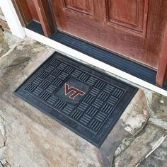 Virginia Tech VT Hokies Doormat Heavy Duty Vinyl Mat