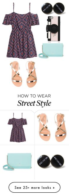 """Sem título #1268"" by malu-880 on Polyvore featuring H&M, Ancient Greek Sandals and Kate Spade"
