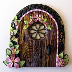 Cottage Garden Fairy Door by Claybykim on Etsy, $20.00