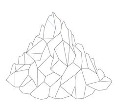 How To Create a Low Poly Art Mountain Illustration