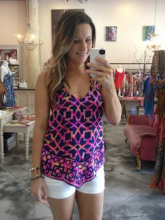 How amazing is this printed top?! <3