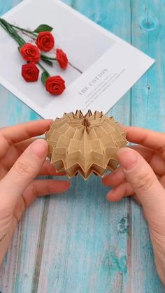 creative crafts let's do together!😘😘😍😍Do let me know in the comment how it goes. :)💗💗You can also find some other content in my blog. Diy Crafts Hacks, Diy Crafts For Gifts, Diy Arts And Crafts, Creative Crafts, Foam Crafts, Instruções Origami, Origami And Kirigami, Paper Crafts Origami, Origami Videos