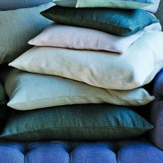 100% linen, hand-woven, hand-dyed pillows from Canvas