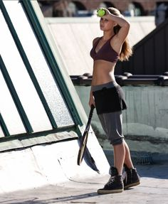 Feminine yet fierce. We love to shake things up with a workout skirt.