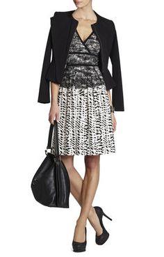 Kerra Printed Top-Wrap Dress | BCBG