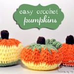 Easy Crochet Pumpkins {free pattern}