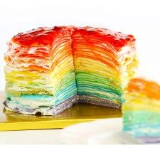 Easier than you think. Learn how to make 30-layer beautiful and delicious mille crepe cake.  I was so happy making a rainbow is a great way this morning. Making 30 crepes was pretty repetitive work yet it's too colorful to be a meditation. :) I highly recommend you to make a rainbow, too!Enjoy! 5 …