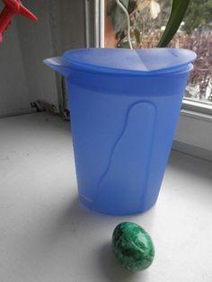 Tupperware Blauer Milchkrug