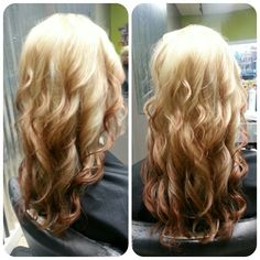 Reverse ombre blonde and red......EXCEPT WITH CHOCOLATE BROWN