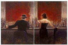 """Oil Painting Pop Art """"The Cigar Bar Men & Women""""."""