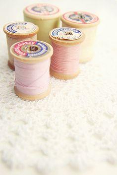 spools of vintage thread