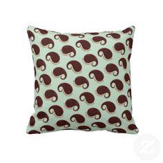 Fun Paisley Pattern throw pillow