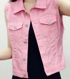 Pink White 2016 New Hot Sale Vest Women Denim Fashion Gilet Sweet Casual Female Vests-in Vests & Waistcoats from Women's Clothing & Accessories on Aliexpress.com | Alibaba Group