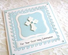 First Communion Card for girl or boy religious by cardsmiles