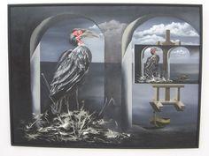 Cuando llegará el día 106 cm x 14 6cm Oleo-Lienzo 2008 3800€ #arte #art #cuban #CesarIvan Painting, Canvases, Birds, Painting Art, Paintings, Painted Canvas