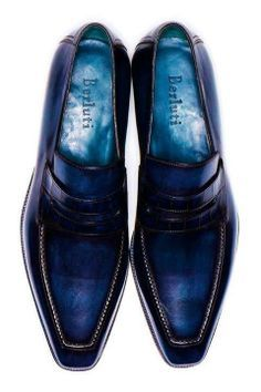 Berluti Mens Shoes Boots, Leather Shoes, Shoe Boots, Blue Shoes, Beautiful Shoes, Men Dress, Dress Shoes, Fashion Shoes, Mens Fashion