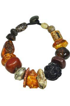 Monies large bead necklace - multi