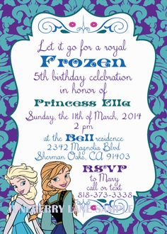 Disney Frozen Invitations-Classic