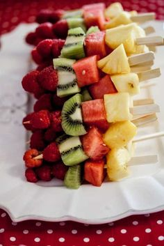 Fresh Fruit Skewers healthy simple and beautiful for spring and summer parties
