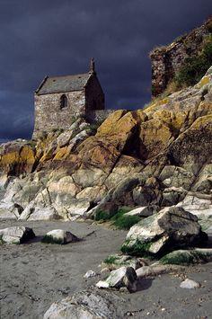 Mont St Michel - Oratoire de St Hubert - low tide
