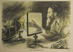 """""""Die Entdeckung der Röntgenstrahlen""""; Schulwandbild 1952"""