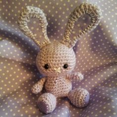 crochet bunny made by me - pattern from craftzine.com