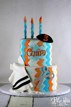 Modern Upsherin Cake | Lil Miss Cakes
