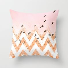 flying Throw Pillow by Marianna Tankelevich - $20.00