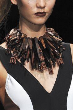 Necklace | Donna Karen.  Spring 2012