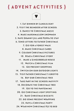 24 Christmas kids activities for a no-chocolate advent calendar kids Christmas Calendar, Christmas Countdown, Winter Christmas, Christmas Holidays, Christmas Tables, Christmas Cactus, Nordic Christmas, Modern Christmas, Christmas Advent Ideas