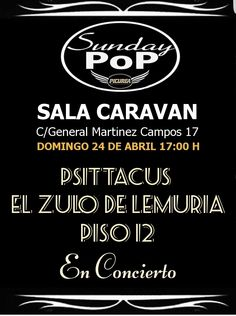 Sunday Pop en Madrid