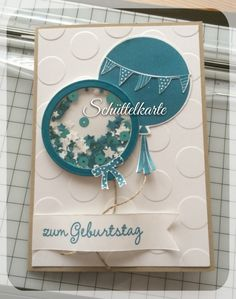 Balloon Shaker Card for a Birthday or Celebration - 25. January 2015 Heikes Kartenwerkstatt: shaker card