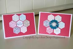 stampin up hexagon punch | Six sided sampler, hexagon punch from Stampin up ... | Stampin' Up