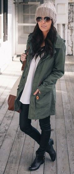 I love a great stocking hat & that jacket looks so comfy!